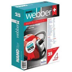 Worek do odkurzacza WEBBER 25 (4 sztuki)