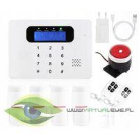 Zestawy alarmowe, Bezprzewodowy alarm GSM + 5 czujek + syrena VSGSM30C