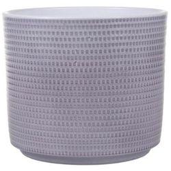 Osłonka doniczki Cermax Calla cylinder 14 cm szary lazur