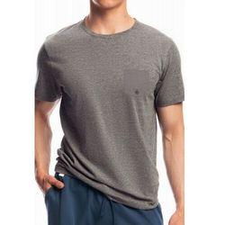 Męska koszulka do piżamy krótki rękaw Atlantic NMT 050 szara