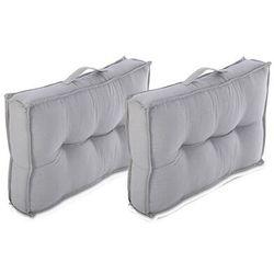 Zestaw 2 poduszek na palety BAILA – bawełna – 40 × 60 × 12 cm – kolor szary