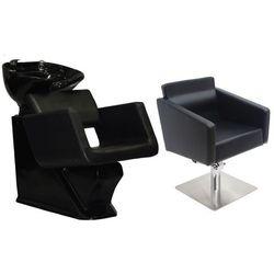 Zestaw Mebli Fryzjerskich - Myjnia Alcamo Z Czarną Misą + 1 x Fotel Siena