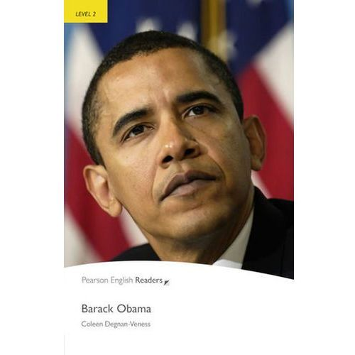 Książki do nauki języka, Barack Obama Book Penguin Readers, Plus Audio CD, Level 2 Elementary (opr. miękka)