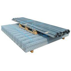 vidaXL Panele ogrodzeniowe 2D z słupkami - 2008x2030 mm 42 m Srebrne Darmowa wysyłka i zwroty
