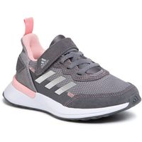 Buty sportowe dla dzieci, Buty adidas - RapidaRun Elite S&L El K EF9412 Grey Three/Silver Metallic/Glow Pink
