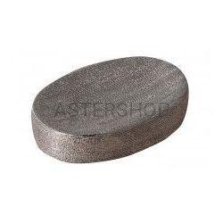 NICE Mydelniczka stojąca ceramiczna, srebrna NI5761