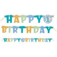 Balony, Baner na roczek 1st Birthday Baloniki Blue - 120 cm - 1 szt.