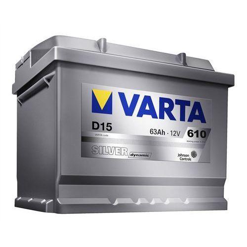 Akumulatory samochodowe, Akumulator VARTA D15 Silver Dynamic 63Ah 610A L-