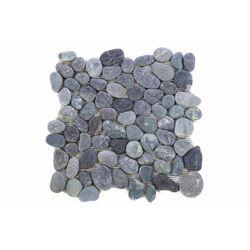 Mozaika z naturalnych kamieni ozdobnych Garth na siatce szara 1 mata