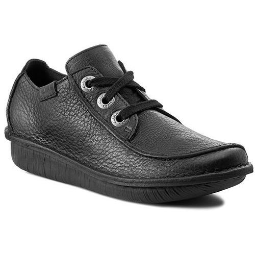 Półbuty damskie, Półbuty CLARKS - Funny Dream 203066394 Black Leather