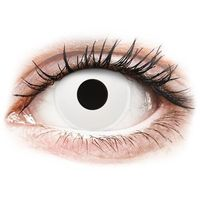 Soczewki kontaktowe, ColourVUE Crazy Lens - Whiteout - jednodniowe zerówki (2 soczewki)