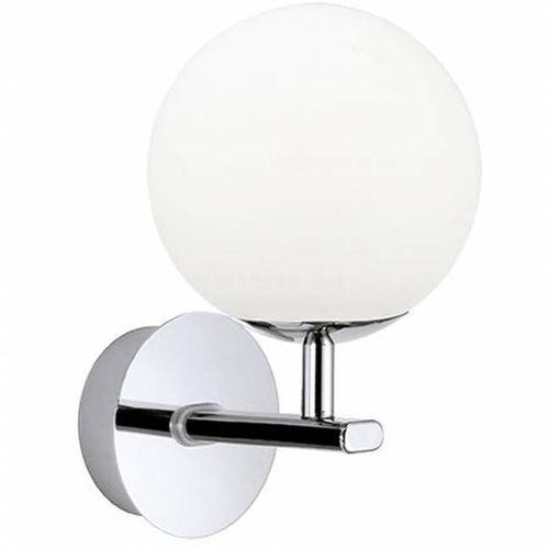 Lampy ścienne, Kinkiet lampa ścienna Eglo Palermo 1x2,5W LED IP44 biały/ chrom 94991