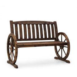 Murnau ławka ogrodowa opalane drewno jodłowe brązowa
