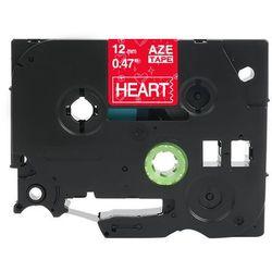 Taśma Brother TZe-MPVB35 12mm x 4m ozdobna różowe serca biały nadruk - zamiennik| OSZCZĘDZAJ DO 80% - ZADZWOŃ! 730811399