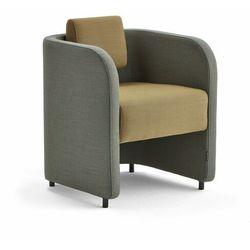 Fotel COMFY, na nóżkach, wełna, turkusowy/złoty