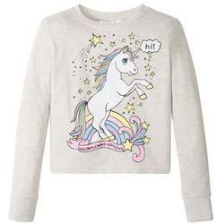 Bluza dresowa dziewczęca bonprix naturalny melanż z nadrukiem