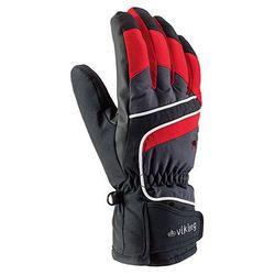 Rękawice narciarskie Viking Biset - czarno-szaro-czerwony viking (-28%)
