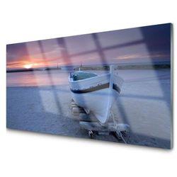 Obraz Akrylowy Łódka Plaża Słońce Krajobraz