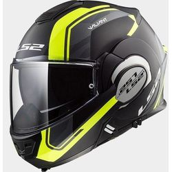 KASK LS2 FF399 VALIANT LINE MATT BLACK H-V YELLOW