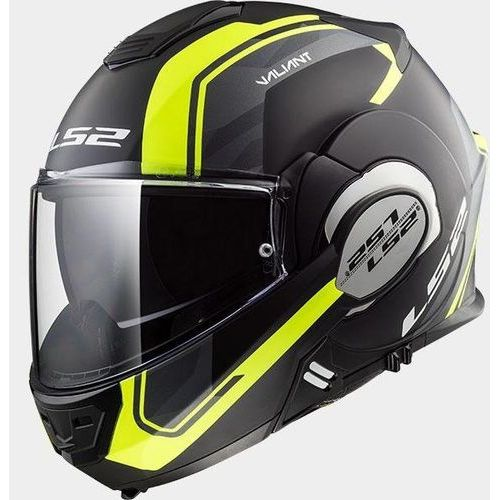 Kaski motocyklowe, KASK LS2 FF399 VALIANT LINE MATT BLACK H-V YELLOW