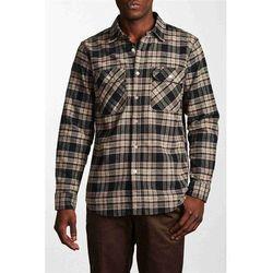 koszula BRIXTON - Bowery L/S Flannel Black/Grey (BKGRY) rozmiar: XL