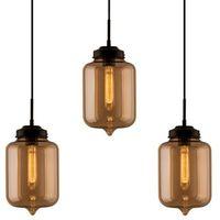 Lampy sufitowe, Lampa wisząca London Loft 2 CL bursztyn