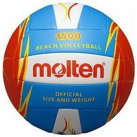 Siatkówka, Piłka siatkowa Molten v5B1500-CO - niebiesko-pomarańczowo-biały