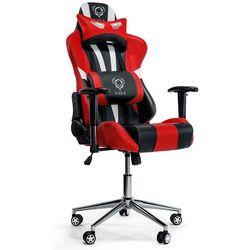 Fotel DIABLO CHAIRS X-Eye Czarno-biało-czerwony + Zamów z DOSTAWĄ JUTRO!