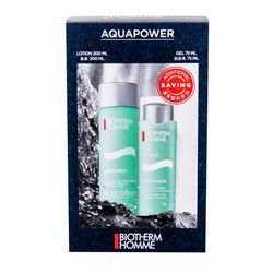 Biotherm Homme Aquapower zestaw Woda po goleniu Aquapower Oligo-Thermal Refreshing Lotion 200 ml + Żel do twarzy Aquapower Oligo-Thermal Care 75 ml M