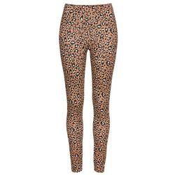 Legginsy z nadrukiem bonprix brązowy w cętki leoparda