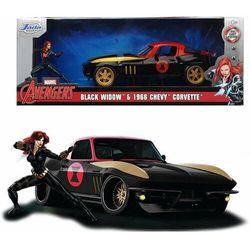 Jada Marvel Black Widow Chevy Corvette samochód + figurka