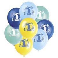 Balony, Balony pastelowe na roczek 1st Birthday Baloniki Blue - 31 cm - 8 szt.