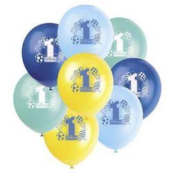 Balony pastelowe na roczek 1st Birthday Baloniki Blue - 31 cm - 8 szt.