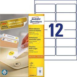 Etykiety uniwersalne usuwalne Avery Zweckform 99,1 x 42,3mm 100 ark./op. L4743 R