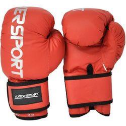 Rękawice bokserskie AXER SPORT A1333 Czerwony (8 oz) + Zamów z DOSTAWĄ JUTRO!