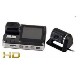 2w1!! Kamera Samochodowa HD + Druga Kamera Zewnętrzna/Cofania + Ekran LCD 2