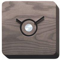 Zegary, TRATTORIA zegar wykonany w ciemny drewnie 22x22x4 cm Ciemne drewno