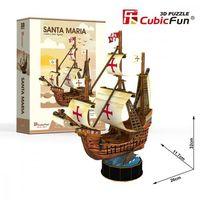 Puzzle, Puzzle 3D Żaglowiec Santa Maria 93 elementy