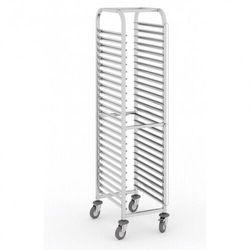 Wózek ze stali nierdzewnej na pojemniki gastronomiczne, 20 poziomów, GN 1/1, 1800x380x550 mm