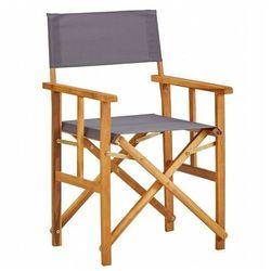 Krzesło reżyserskie składane Martin - popielate