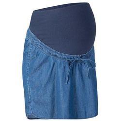 Spódniczka dżinsowa ciążowa bonprix niebieski