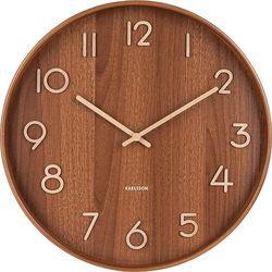 Zegar ścienny pure duży ciemne drewno