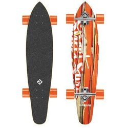 Longboard Street Surfing Kicktail Damaged Orange 36""