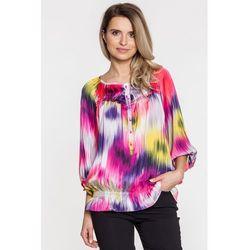 Różowa bluzka we wzory - Duet Woman