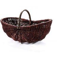 Koszyki, Wiklinowy kosz na grzyby z wikliny ciemnej winogronowy