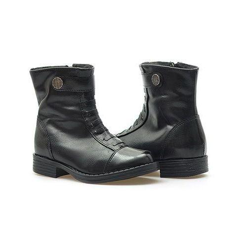 Pozostałe obuwie dziecięce, Botki dziewczęce Kornecki 04586 Czarne