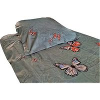 Pościel, POŚCIEL satyna bawełniana, szare motyle