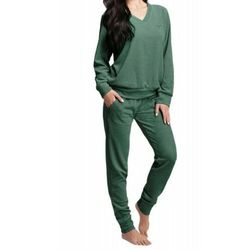Welurowy dres damski komplet 306 3xl zielony, Luna