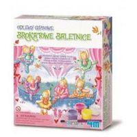 Kreatywne dla dzieci, ODLEWY GIPSOWE BROKATOWE BALETNICE - MINI MAGNESY LUB WPINKI