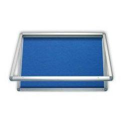 Gablota informacyjna tekstylna 53x70 wodoszczelna - niebieska